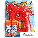 Sshakuntlay® Battery Operated Hand Pressing Bubble Making Toy Gun with Bubble Bottle/Bubble Gun for Kids/Bubble Gun Toy/Gun Toys for Kids/Angry Bird Toys for Kids/Angry Bird Gun for Kids (Red)