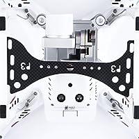 Youzone In fibra di carbonio del giunto cardanico Camera Guardia + copriobiettivo Cap & Sun Hood per DJI Phantom 3 Pro e Advanced (confezione da 3)