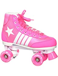 Epic patines 2016 Epic Star Carina 4 Indoor/Outdoor Classic high-top Quad patines, color rosa