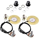 Sharplace 2 Piezas Pastilla Piezoeléctrico Transductor Precableado Amplificador para Guitarras