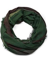d496a3fbbaa2 styleBREAKER écharpe snood avec des rayures aux couleurs contrastées, en  motifs chevrons et avec frange, écharpe, toile,…