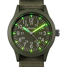 Infantry–Reloj militar táctico para hombre, analógico, correa de color verde IN-083-G-N