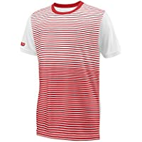 Wilson Boys' B Team Striped Crew Short Sleeve Tennis T-Shirt