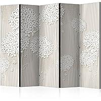 murando paravent fleurs 225x172 cm reversible impression sur papier intiss 100