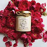 Tearose Scented Candle Made With Blended Natural Wax And Fine Fragrance Oils For A Healthy And Clean Burn/Vegan Candle/Rose Candle