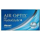 AirOptix Plus Hydraglyde Lentes de Contacto Esféricas Mensuales, Dioptría R 8.6 / D 14.2 / -2.75 - 3 lentillas