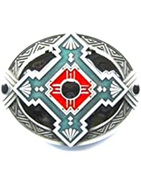 Western Country - Boucle ceinture cowboy indien d'amerique Wild life - Metal argente # WT059