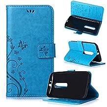 Beiuns Funda de PU piel para Motorola Moto G (3rd gen, 5 pulgadas 2015) Carcasa - R149 azul hermoso