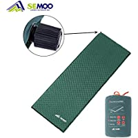 Semoo Self-Inflating Camping Sleeping Mat/pad, Quick Flow Valve, Water Repellent Coating 190T Polyester