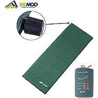 Semoo Esterilla/colchoneta auto-hinchable impermeable para camping, 188 x 60 x 3 cm, válvula auto-hinchable de rápida actuación