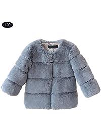 Abrigos de piel sintética para bebés y niñas, chaqueta cálida para niños, ...