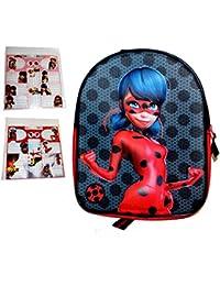 Preisvergleich für Vadobag Miraculous Ladybug Mädchen 3D Kinderrucksack Plus 24 Sticker