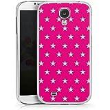 Samsung Galaxy S4 Hülle Schutz Hard Case Cover Stern Pink Muster