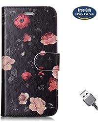 Funda Galaxy S7,Funda Cover Galaxy S7,Aireratze Slim Case de Estilo Billetera Carcasa Libro de Cuero,Carcasa PU Leather Con TPU Silicona [Estuche versátil de diseño en 1 en 1] Case Interna Suave [Función de Soporte] [Ranuras para Tarjetas y Billetera] [Cierre Magnético] para Samsung Galaxy S7 (Rosa) (+ Cable USB)