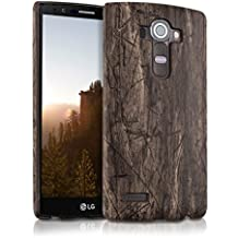 kwmobile Funda Hardcase Diseño madera vintage para LG G4 en marrón oscuro