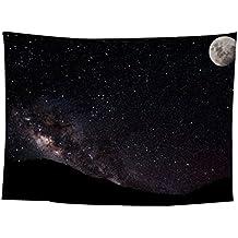 Home & Kitchen JYJM Stars - Colcha para colgar en la pared, diseño de estrellas, tapiz, F, 150*130cm