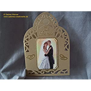 3D Grußkarte Hochzeit, Art. 0340