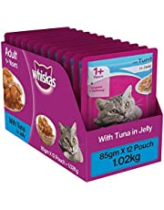 Whiskas Adult (+1 year) Wet Cat Food, Tuna in Jelly, 12 Pouches (12 x 85g)