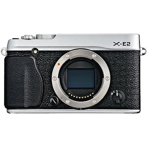 Fujifilm X-E2 Fotocamera Digitale 16 MP, Sensore X-Trans CMOS II APS-C, Ottiche Intercambiabili, Solo Corpo, Argento