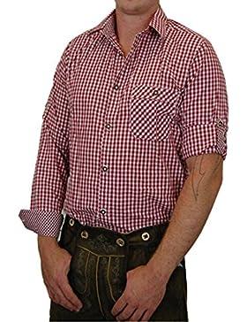 Lekra Trachtenhemd FERDL kariert mit edlen Karo Kontrasten 100% Baumwolle - Farbe wählbar -