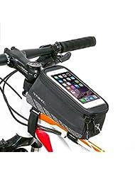 [Update Version] ieGeek Frame Bag lenkertasche Rahmentasche Fahrradtasche mit Handy-Platz für Iphone 7 7 Plus 6 Plus 6S 6 5S 5SE SAMSUNG Galaxy S7 edge S6 edge Galaxy NOTO5 NOTO4 und andere Telefon von klein als 5,7inch 1,9L