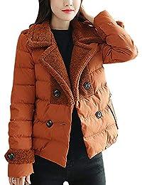 468479bb23a51 Sodhue Veste d hiver pour Femme Doudoune Slim Fit Veste de Ski Chaude et  Manteau à Bulles Rembourré Parka Coupe-Vent épaissie à…