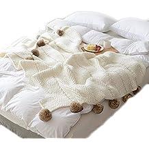 Tz Alfombra de algodón Corrugado Alfombra islandesa corrugada Alfombra Decorativa nórdica Aire Acondicionado Manta (Color