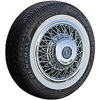 Set speiche Copricerchi + bianco da parete anelli 13pollici–Universale, adatto autovetture. auto d' epoca,