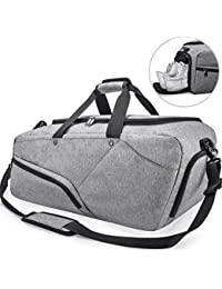 NUBILY Bolsa de Deporte Hombre Bolsas Gimnasio Mujer de Grande Viaje  Impermeable con Compartimento para Zapatos 5deed4b64b57c