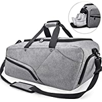 NUBILY Gym Bag Sports Duffle Bag with Shoe Compartment Waterproof Large  Travel Holdall Bags Weekend Bag 47374918c3a86