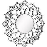 "Venetian Design Suburban Modern Round Wall Mirror Diameter 30"""