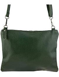 c26848b6237a4 Freyday Echtleder Damen Umhängetasche Clutch kleine Tasche Abendtasche  28x31cm