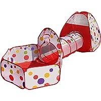 Preisvergleich für YXCXC Baby Spielzeug Kinder Zelt Tunnel Dreiteilige Ocean Ball Spiel Pool House
