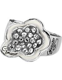 Guess Damen-Ring Edelstahl rhodiniert Kristall Zirkonia weiß