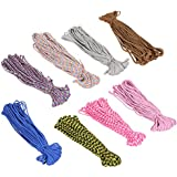 Generic 30M 550 Parachute Rope Rope Mil Spec Spec Type III 7 Strands 100FT Survival Rope For Outdoor Hiking Climbing 8 Colors