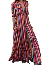 LEvifun Robe Maxi Longue Femme Ete Chic Robe de Soiree Robe de Plage Robe  Vintage Sexy Boho Grande Taille Floral Dentelle Dos Nu… dfe90109bc1c