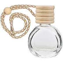 NOPNOG Botella vacía Colgante Transparente Botella vacía para Perfume de ambientador de Aire de Coche (