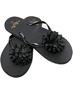 Zehentrenner Damen Flip Flops Mädchen Sommer Sandalen Blume