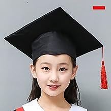 LUOEM Cappello da laurea per bambini Costume Accessorio Cappellino da  dottore con nappa rossa per bambini 31124d9125f4