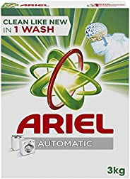 Ariel Automatic Powder Laundry Detergent, Original Scent, 3 KG