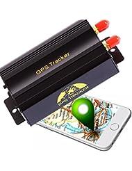AFTERPARTZ® OVO-103B Profi Auto Motorrad GPS Tracker Anti-Diebstahl Lokalisierung +Fernbedienung GPS Ortung GSM GPRS Peilsender Fahrzeugortung online Überwachung, APP für iOS&Android