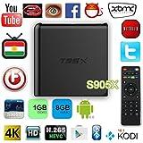 T95x Internet Tv Box Amlogic S905x Android 6.0 Wifi Théâtre 1080p 3d Home Eu Prise