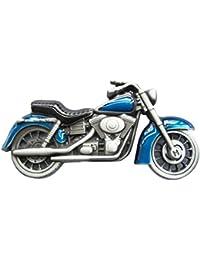 Buckle Harley, Vueltas de rueda delantera Azul - Hebilla