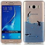 Galaxy J5 2016 Carcasa, YIGA Pingüino Transparente TPU Gel Cubierta De Silicona Suave Funda Tapa para Samsung Galaxy J5 2016 J510 ( no para Samsung Galaxy J5 2015 )