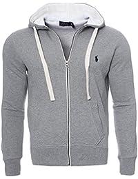 Ralph Lauren Herren Sweatjacke Hoodie Kapuzen Pullover Schwarz Navy Grau S  M L XL, Original, Outletware 0a42990454