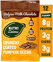 Crunchy & Delicious Healthy Chocolate Snacks - More Protein, Less Sugar, Natural Ingredients Only (4 Flavo