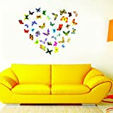 [Sponsored]SYGA Set Of 42 Pieces Decorative Butterfly Wall Stickers