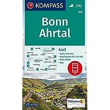 Bonn, Ahrtal: 4in1 Wanderkarte 1:50000 mit Aktiv Guide und Detailkarten inklusive Karte zur offline Verwendung in der KOMPASS-App. Fahrradfahren. (KOMPASS-Wanderkarten, Band 820)