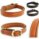 Classic-Line von Pear Tannery: Hundehalsband aus weichem Vollrindleder, XS 31-41cm, hellbraun