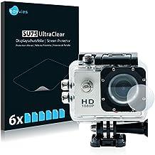 6x Savvies Protector Pantalla para Qumox SJ4000 Sports HD DV Action Cam Lente (Carcasa)Protector - Transparente